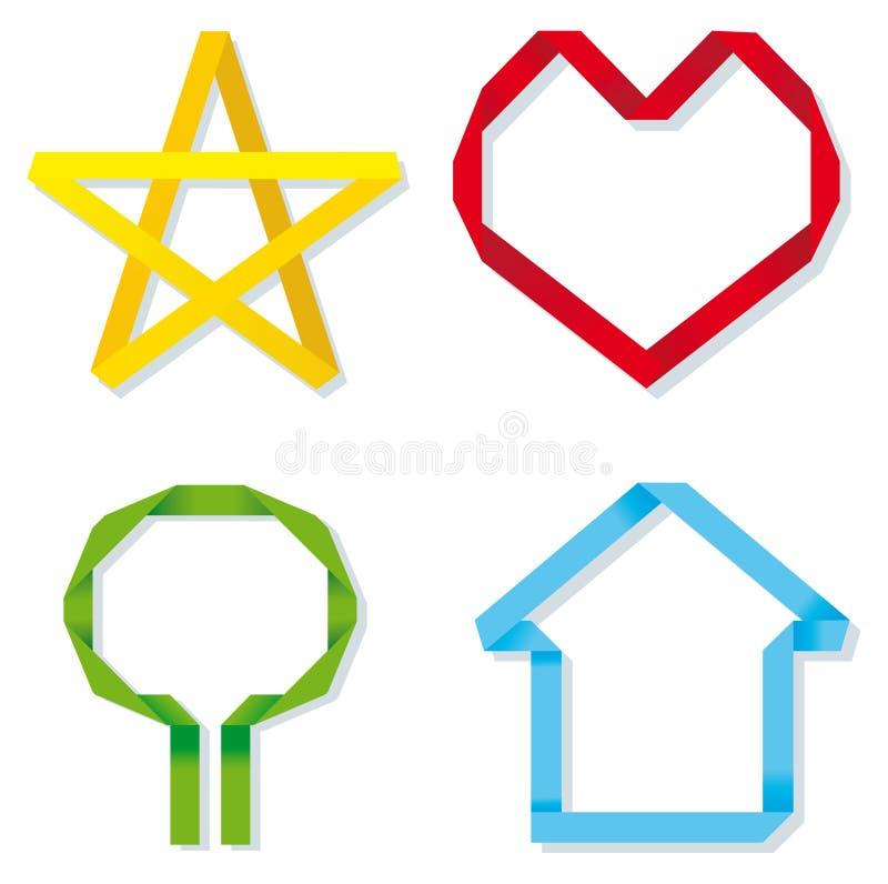 символы типа origami иллюстрация штока