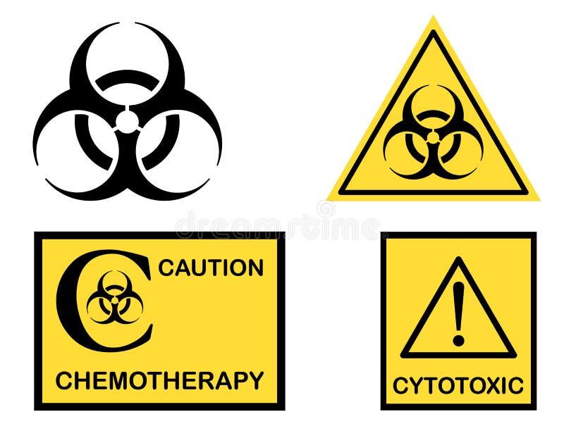 символы химиотерапии biohazard цитотоксические иллюстрация вектора