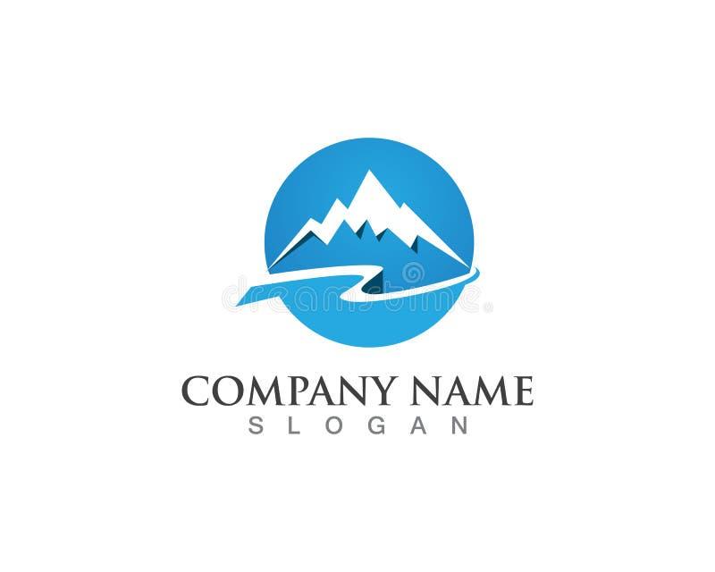 Символы шаблона вектора логотипа горы иллюстрация вектора