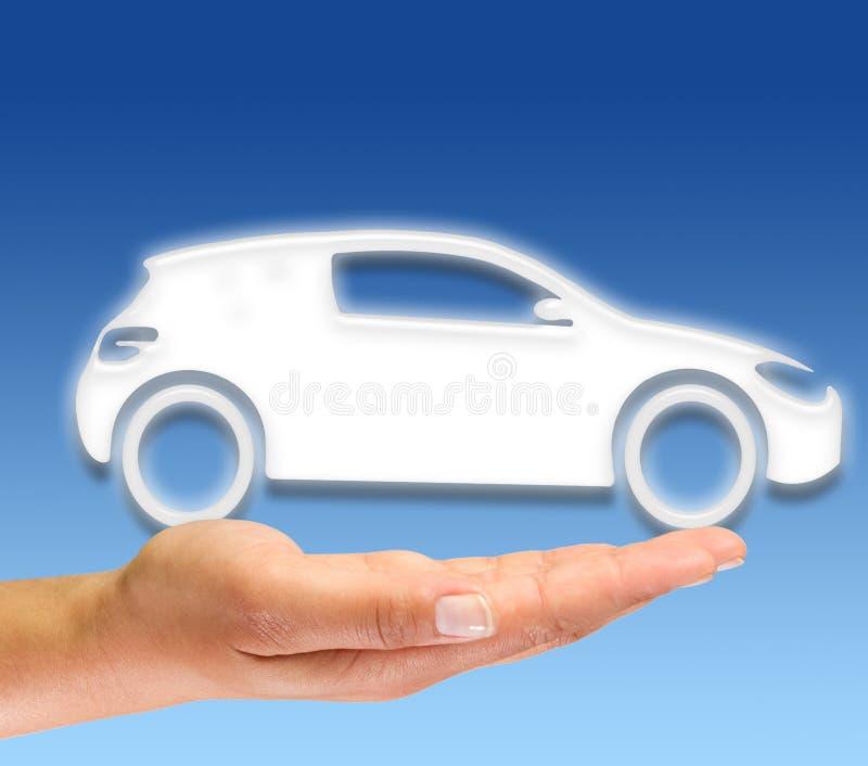 символ автомобиля новый стоковое фото
