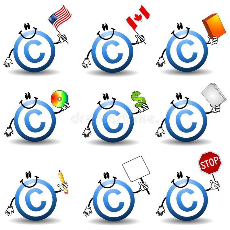 символ авторского права шаржей бесплатная иллюстрация