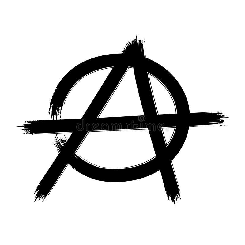 Символ анархии подпишите вектор иллюстрация вектора
