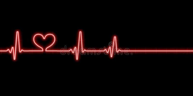 символ биения сердца сердца иллюстрация штока