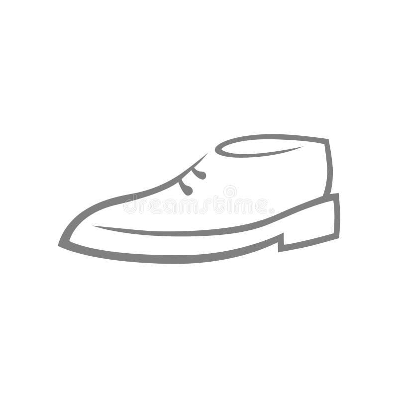 Символ ботинка, значок на белизне иллюстрация вектора