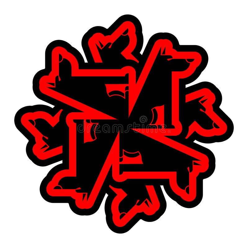 Символ волка Знак оборотня Хищник леса также вектор иллюстрации притяжки corel бесплатная иллюстрация