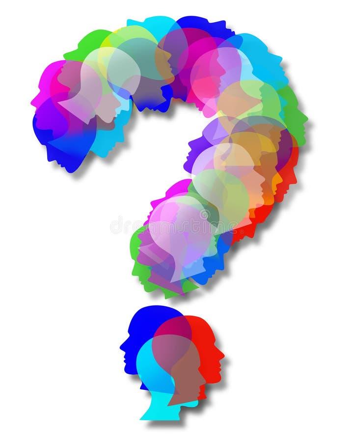 Символ вопросе о людей иллюстрация вектора