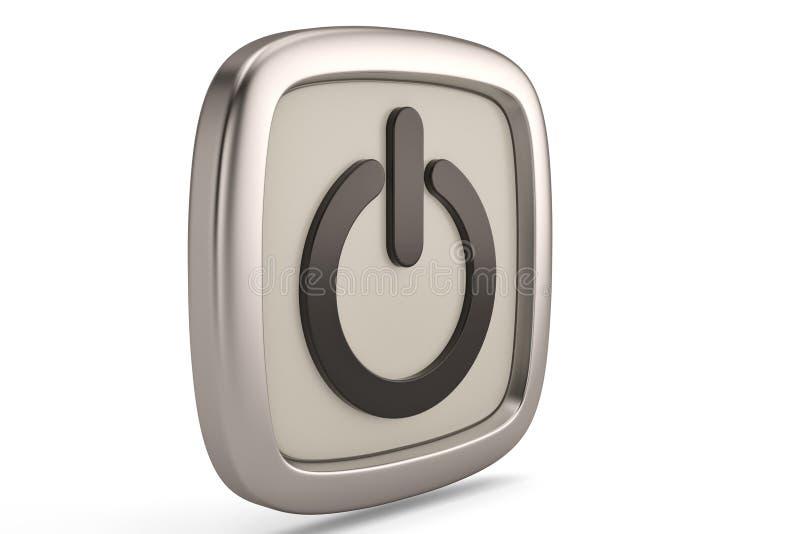 Символ выключения изолированный на белой предпосылке иллюстрация 3d бесплатная иллюстрация