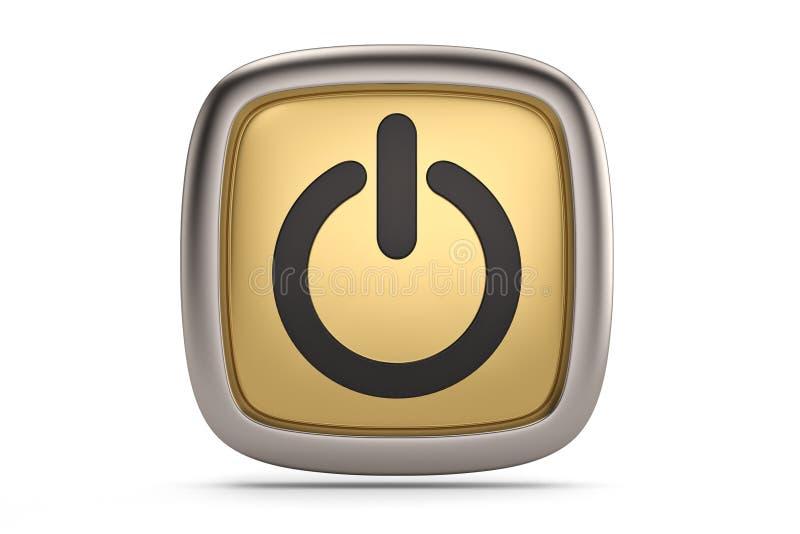 Символ выключения изолированный на белой предпосылке иллюстрация 3d иллюстрация штока