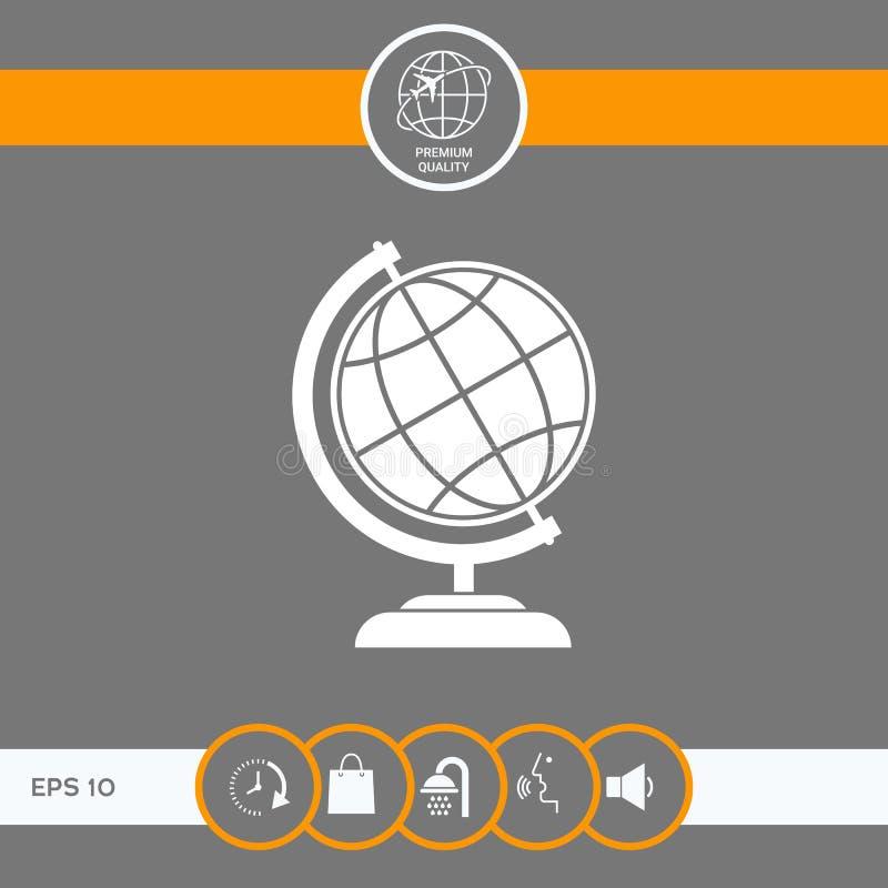 Символ глобуса - значок земли иллюстрация штока