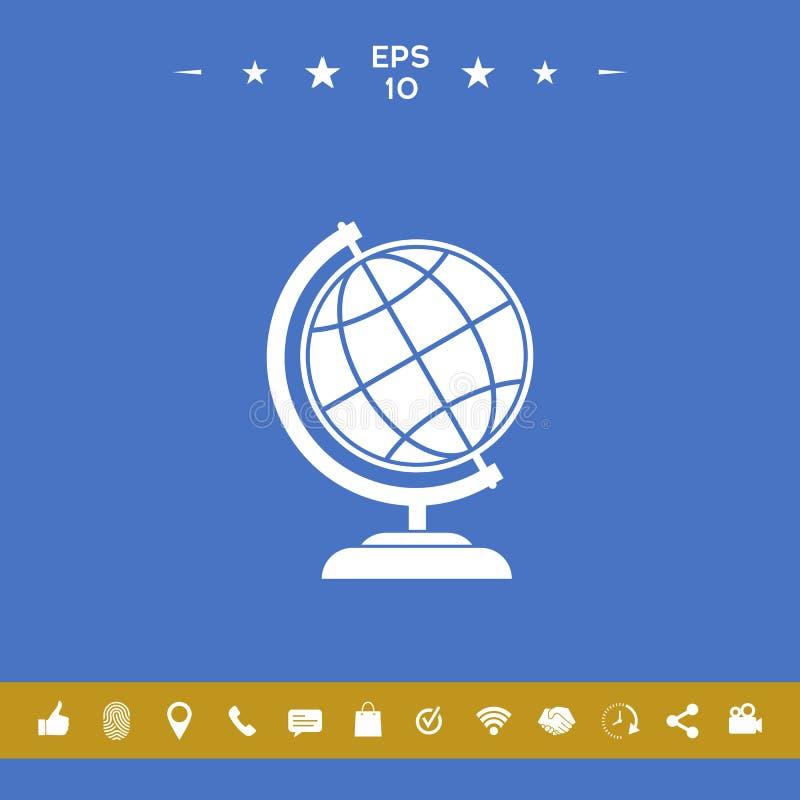 Символ глобуса - значок земли иллюстрация вектора
