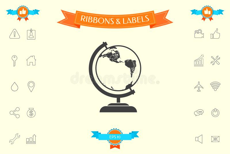 Символ глобуса - значок бесплатная иллюстрация