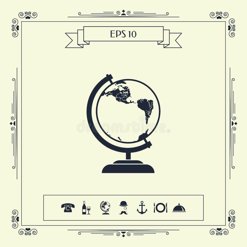 Символ глобуса - значок иллюстрация штока