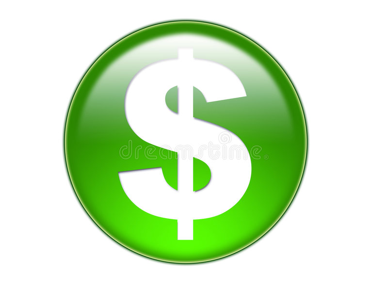 символ дег доллара приклада стеклянный стоковые фотографии rf