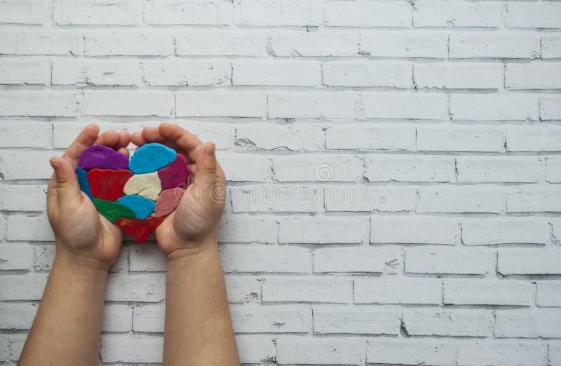 Символ дня осведомленности аутизма мира стоковое изображение rf