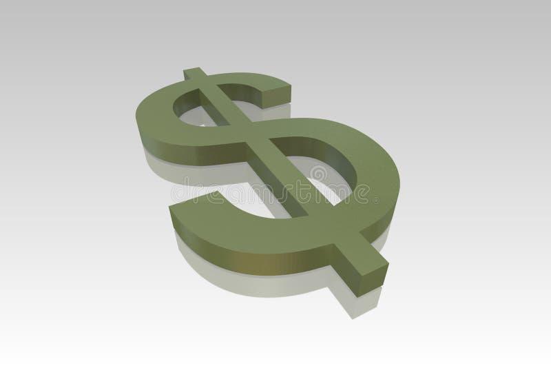 символ доллара зеленый иллюстрация штока