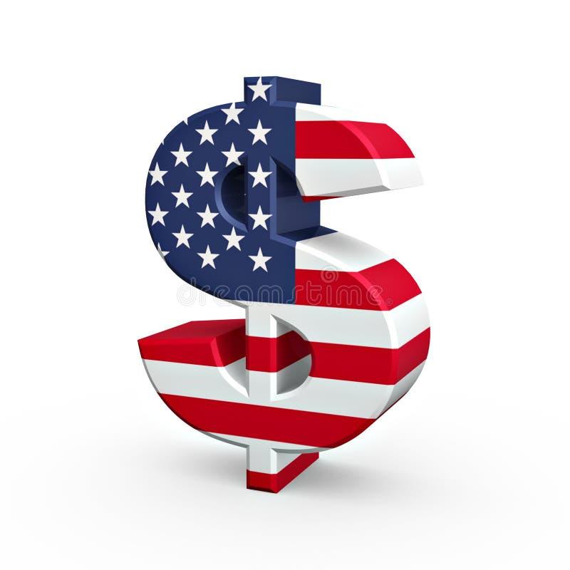 символ доллара мы иллюстрация вектора
