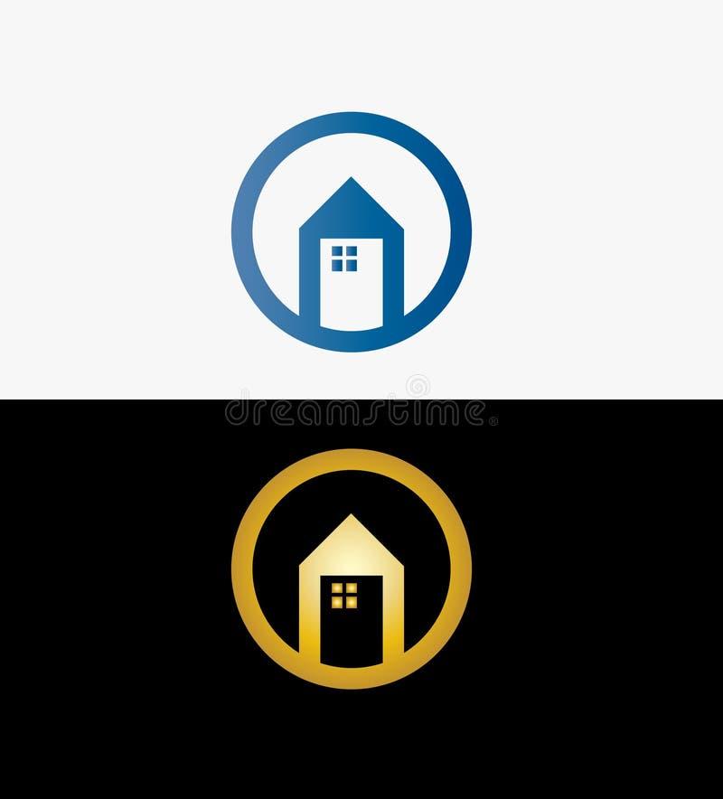 Символ дома Дизайн логотипа недвижимости Логотип дома для вашей компании r иллюстрация вектора