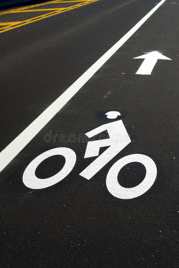 символ дороги майны bike велосипеда новый стоковые изображения rf