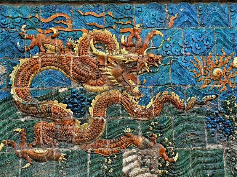 Символ дракона китайской империи стоковая фотография