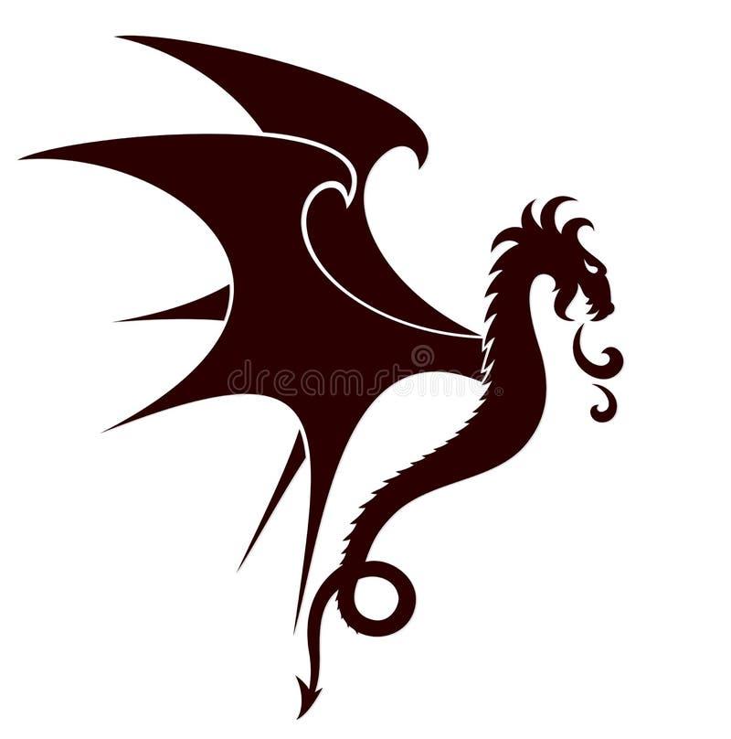 Символ дракона иллюстрация штока