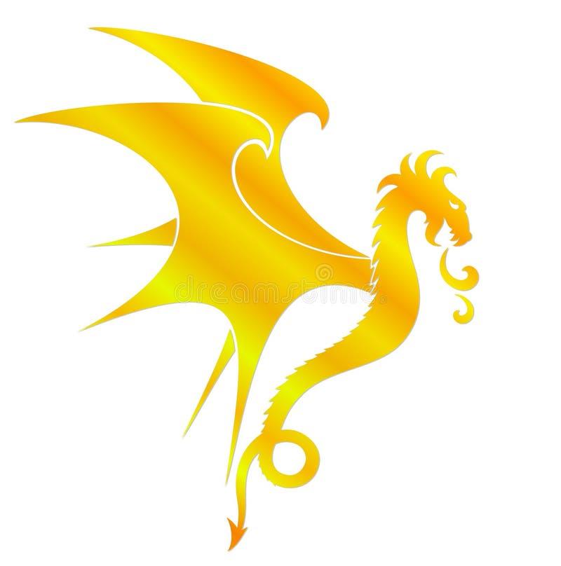 Символ дракона иллюстрация вектора