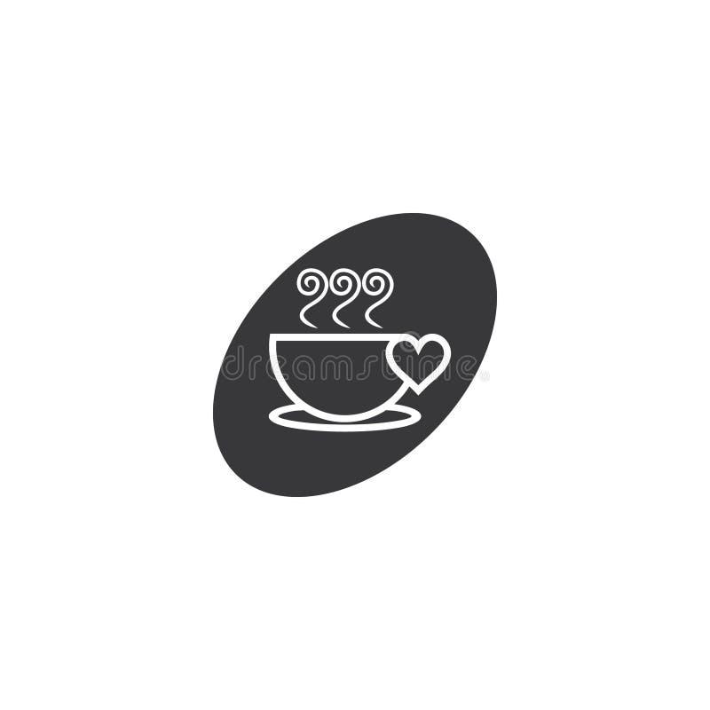 Символ дыма сердца влюбленности чашки иллюстрация штока