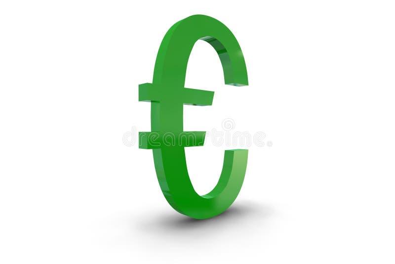 символ евро зеленый иллюстрация штока