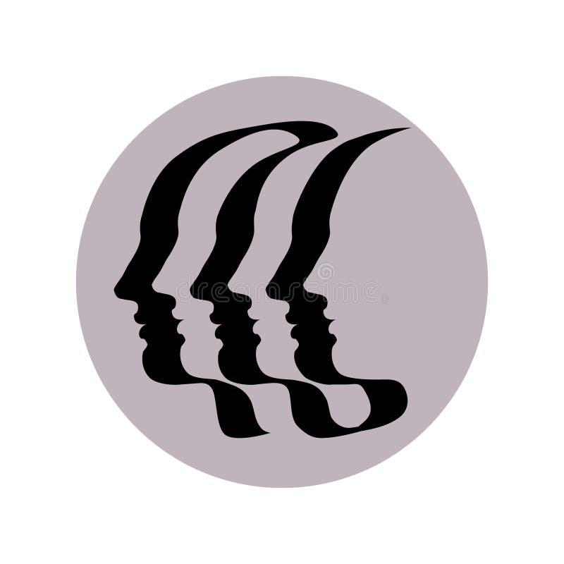 Символ единства никакой 3 иллюстрация вектора