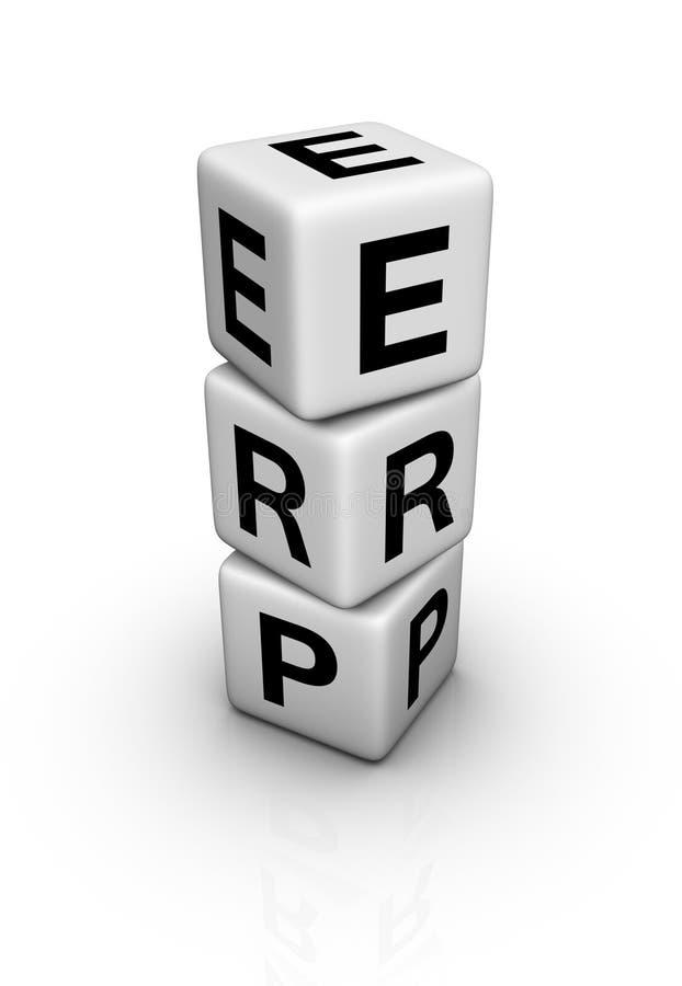 Символ запланирования ресурса предпринимательства (ERP) иллюстрация штока