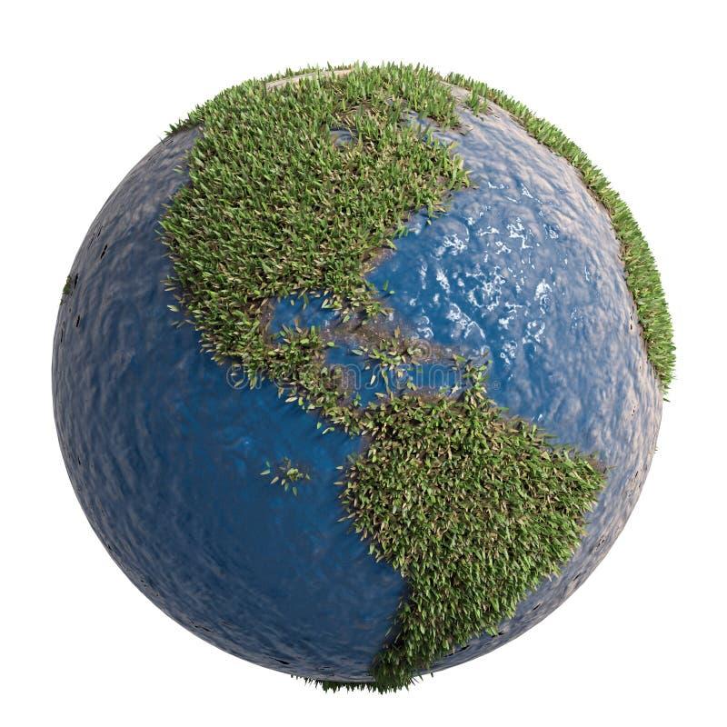 символ земли зеленый иллюстрация вектора