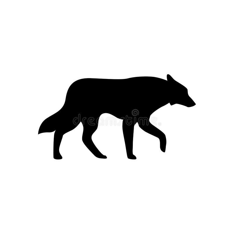 Символ знака вектора значка волка изолированный иллюстрацией иллюстрация вектора
