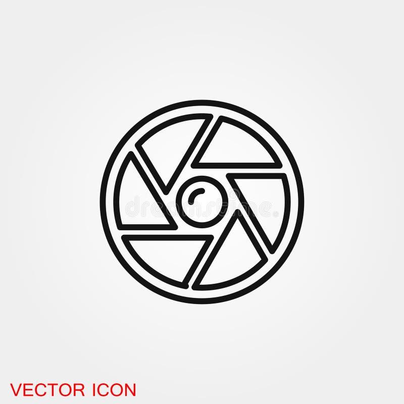 Символ знака вектора значка камеры объективный для дизайна бесплатная иллюстрация