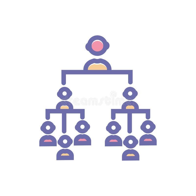 Символ знака вектора иерархии значок иерархии вектора чистый для вебсайта или мобильных приложений иллюстрация штока