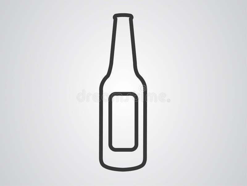 Символ знака значка вектора бутылки иллюстрация вектора