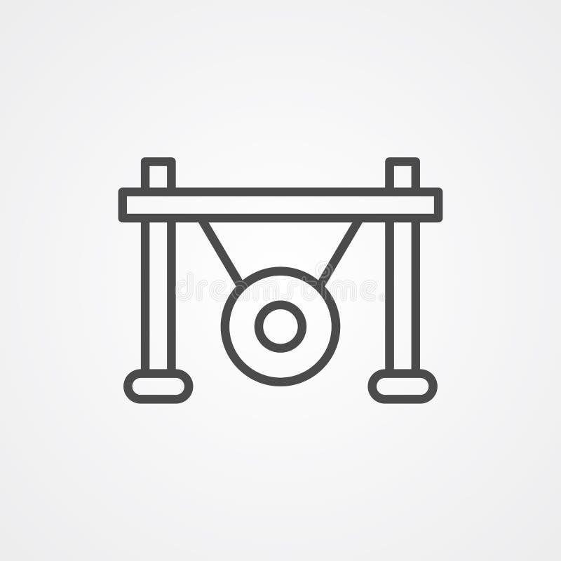 Символ знака значка вектора гонга иллюстрация вектора