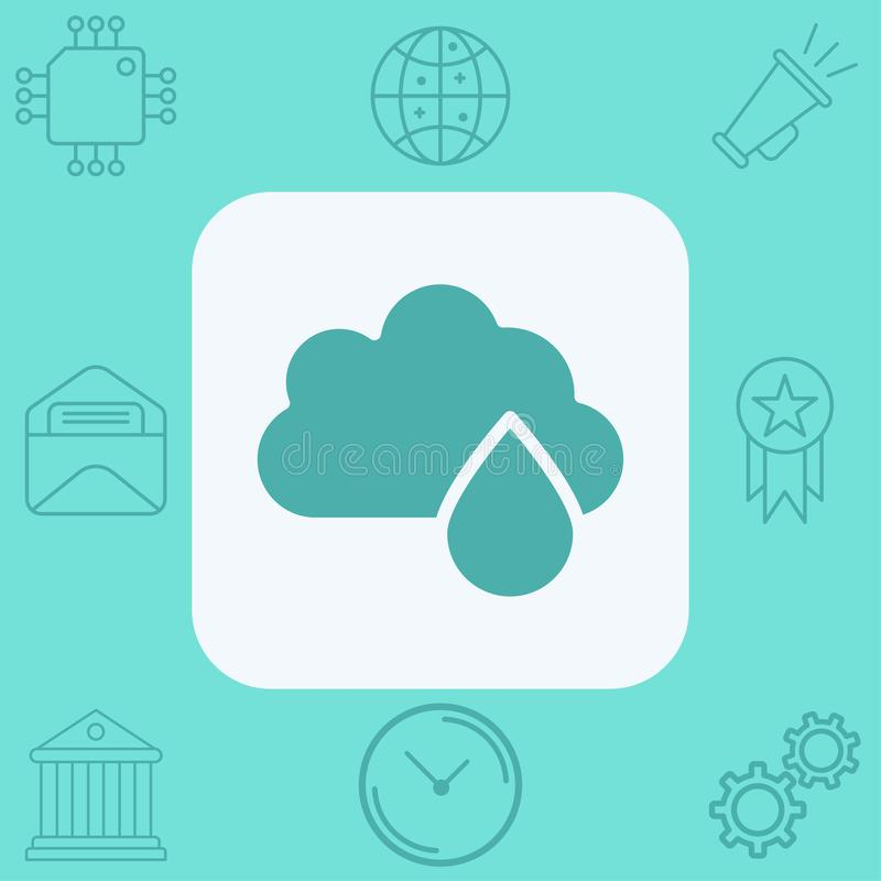 Символ знака значка вектора дождя иллюстрация штока