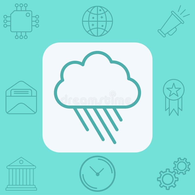 Символ знака значка вектора дождя бесплатная иллюстрация