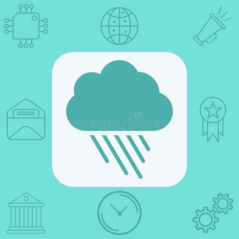Символ знака значка вектора дождя иллюстрация вектора