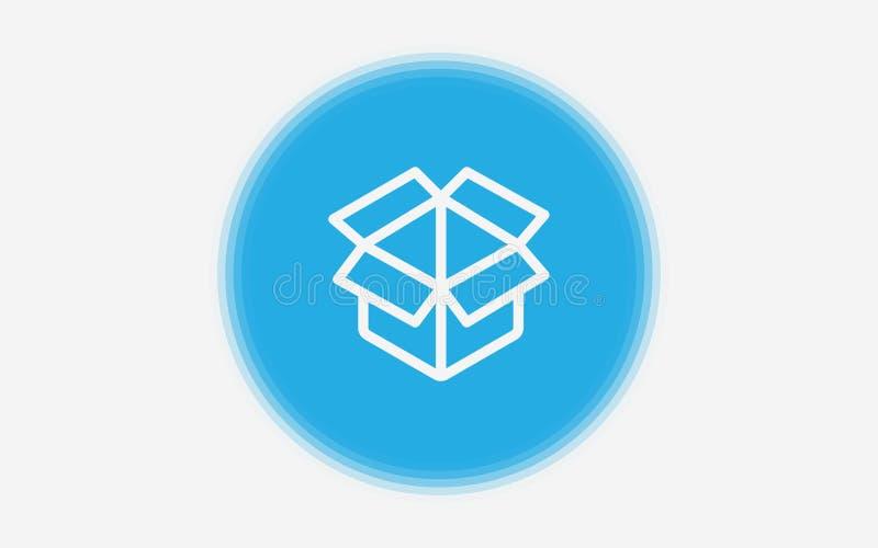 Символ знака значка вектора коробки иллюстрация штока