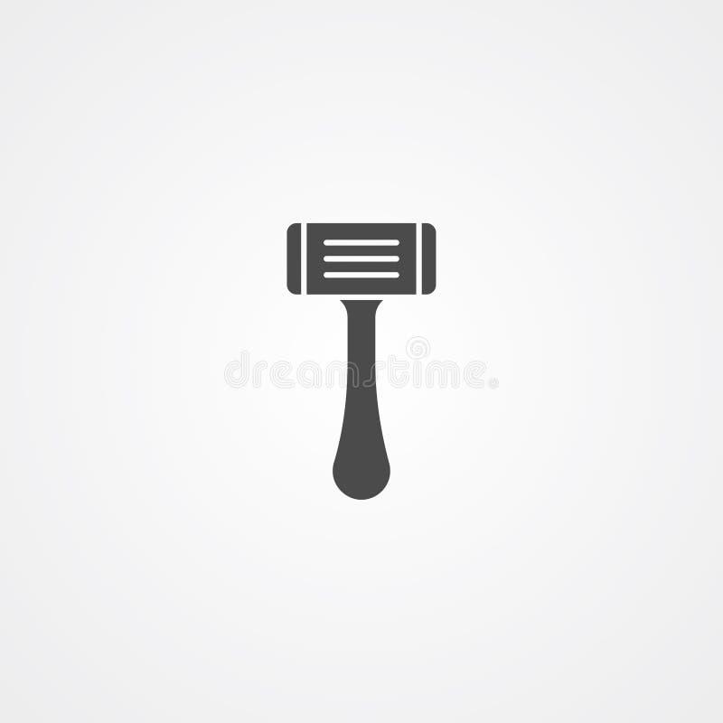 Символ знака значка вектора лезвия бритвы иллюстрация вектора