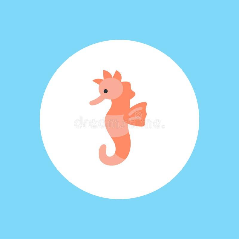 Символ знака значка вектора морского конька иллюстрация штока