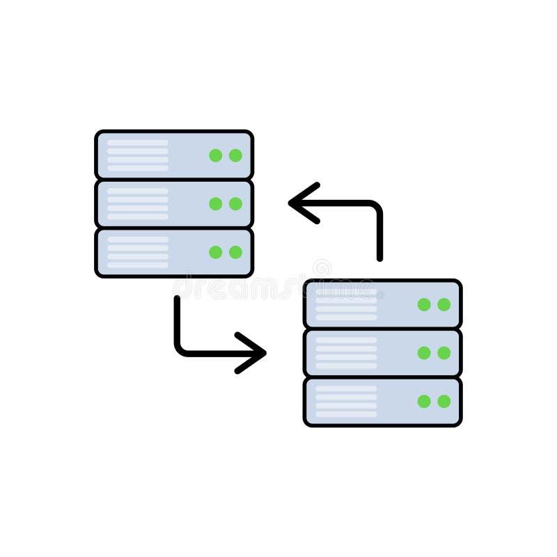 Символ знака значка вектора передачи данных плоский бесплатная иллюстрация