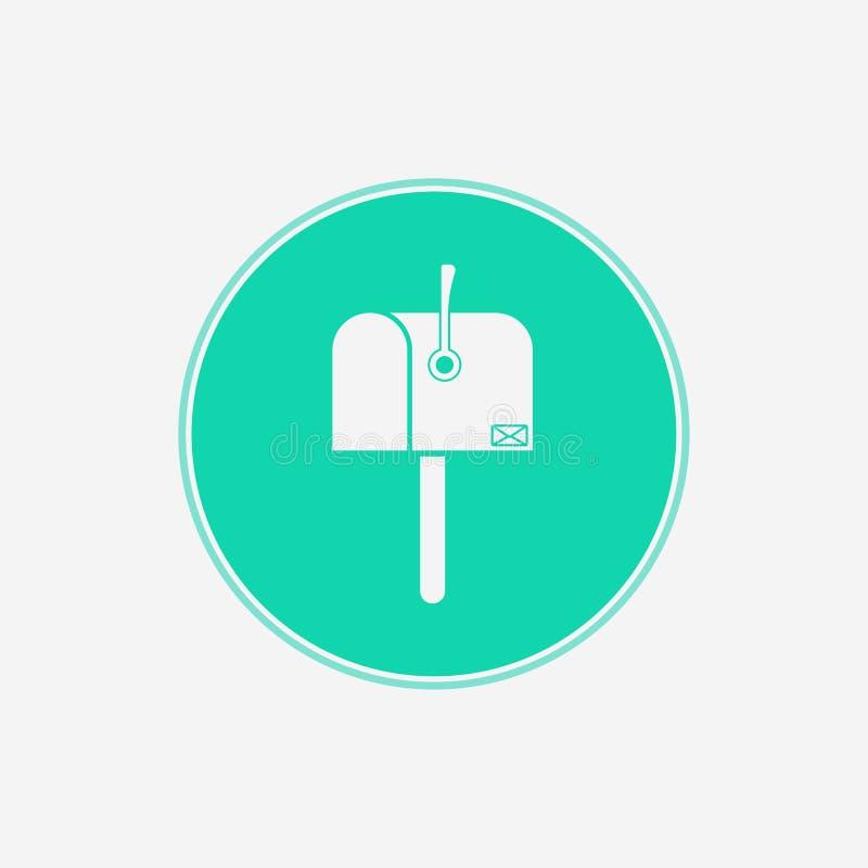 Символ знака значка вектора почтового ящика иллюстрация вектора