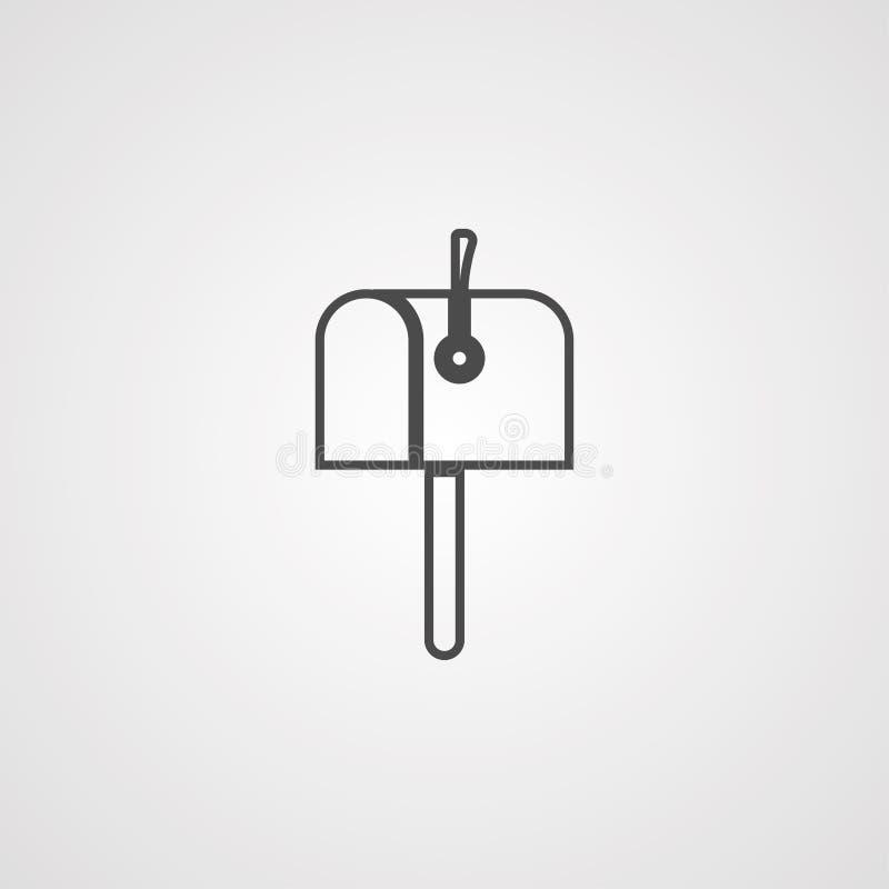 Символ знака значка вектора почтового ящика иллюстрация штока