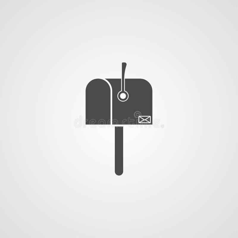 Символ знака значка вектора почтового ящика бесплатная иллюстрация