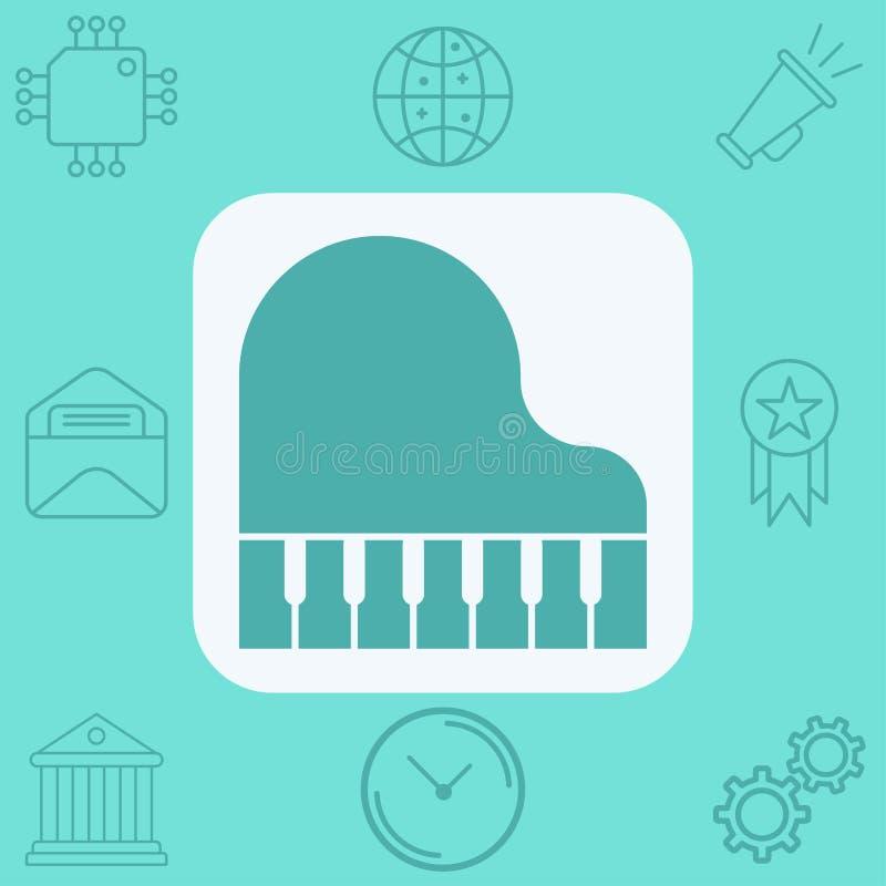 Символ знака значка вектора рояля бесплатная иллюстрация