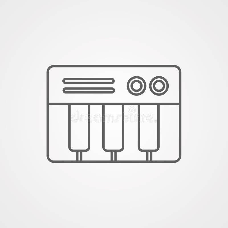 Символ знака значка вектора рояля иллюстрация штока