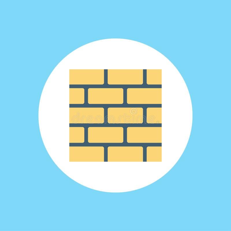 Символ знака значка вектора стены иллюстрация вектора