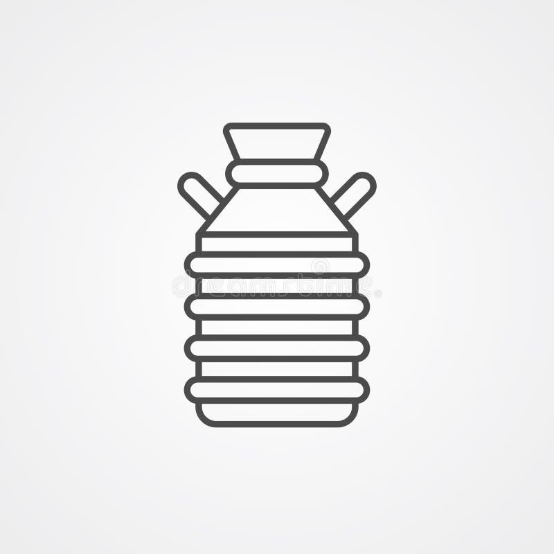 Символ знака значка вектора танка молока иллюстрация штока