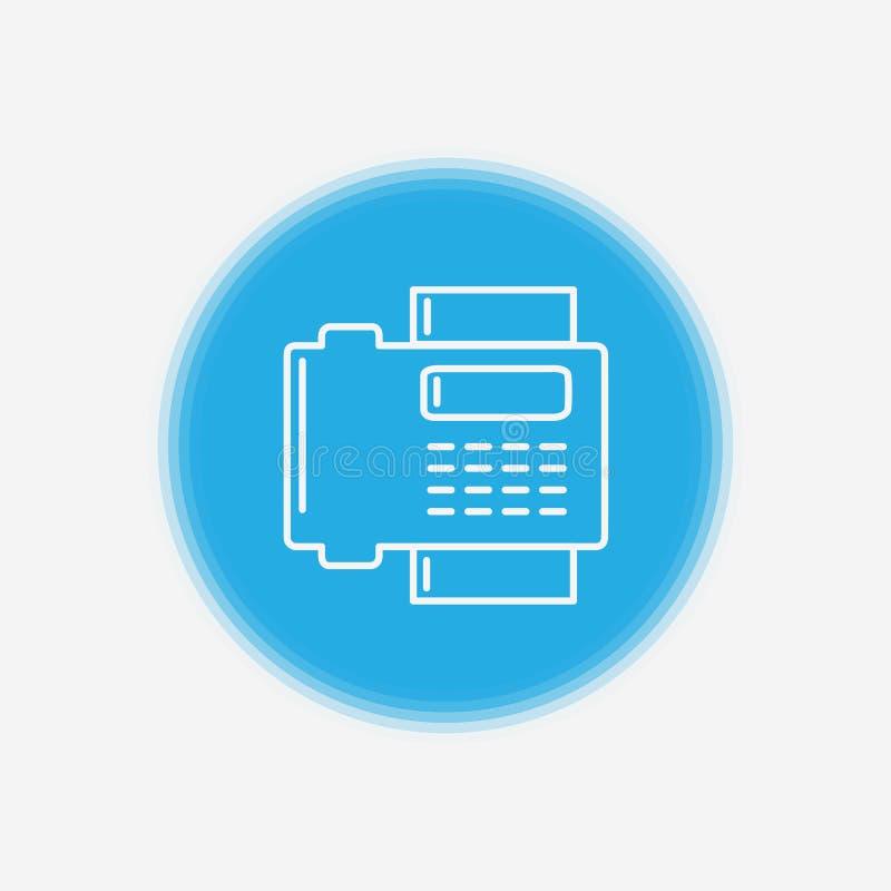 Символ знака значка вектора факса бесплатная иллюстрация